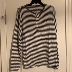 American Eagle Striped LS Henley